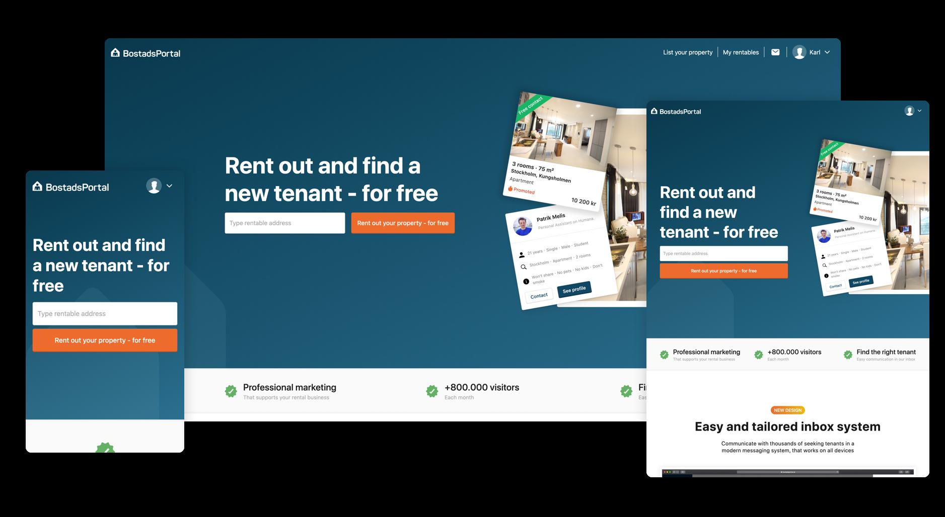 Landing Page for landlords by Patrik Melis